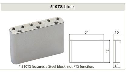 Gotoh 510TS-FE2 Steel Block Tremolo - Chrome - Tremolo / ST