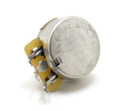 500k CTS Audio Taper Pot - Solid Shaft - 500k Pots - Electronics