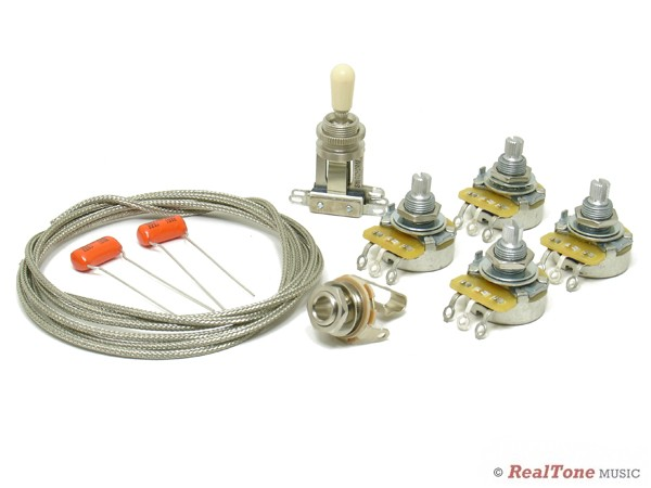 wiring upgrade kit for les paul copy epiphone gibson style wiring kits. Black Bedroom Furniture Sets. Home Design Ideas
