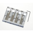 Leo Quan Badass II Bass Bridge w/ grooved saddles - Chrome