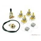 Deluxe Multi Fit Modern Wiring Upgrade Kit - 250k Pots