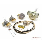 Premium Wiring Upgrade Kit for SSS (3 single coil) Guitars with Treble Bleed Mod