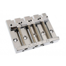 Omega 'Badass' Style Replacement 4 String Bridge - Grooved Saddles - Chrome